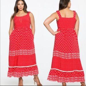 NWOT- ELOQUII Red Tassle Dress